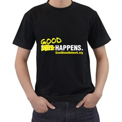 Black Tee with S*it Happens slogan  from ArtsNow.com Front