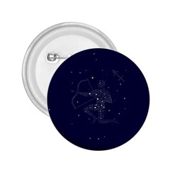 Sagittarius Stars 2.25  Button from ArtsNow.com Front