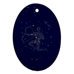 Sagittarius Stars Ornament (Oval) from ArtsNow.com Front
