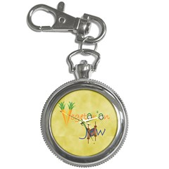 Vegan Jewish Star Key Chain Watch from ArtsNow.com Front