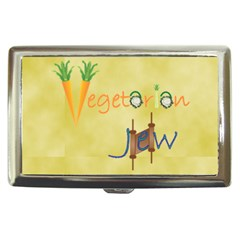 Vegan Jewish Star Cigarette Money Case from ArtsNow.com Front