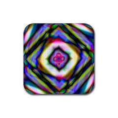 Rippled Geometry  Rubber Square Coaster (4 pack) from ArtsNow.com Front