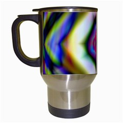 Rippled Geometry  Travel Mug (White) from ArtsNow.com Left
