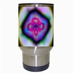 Rippled Geometry  Travel Mug (White) from ArtsNow.com Center