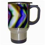 Rippled Geometry  Travel Mug (White) from ArtsNow.com Right