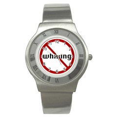 No Whining Stainless Steel Watch from ArtsNow.com Front