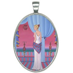 Palm Beach Perfume Art Collection Oval Necklace from ArtsNow.com Front