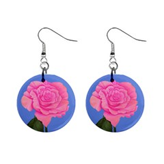 Roses Womens Fashion 1  Button Earrings from ArtsNow.com Front