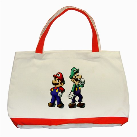 Carson's Collectibles Classic Tote Bag Red of Super Mario and Luigi Portrait (Super Mario Bros.) at Sears.com