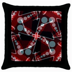 Abstract Art Swirl Throw Pillow Case (Black) from ArtsNow.com Front