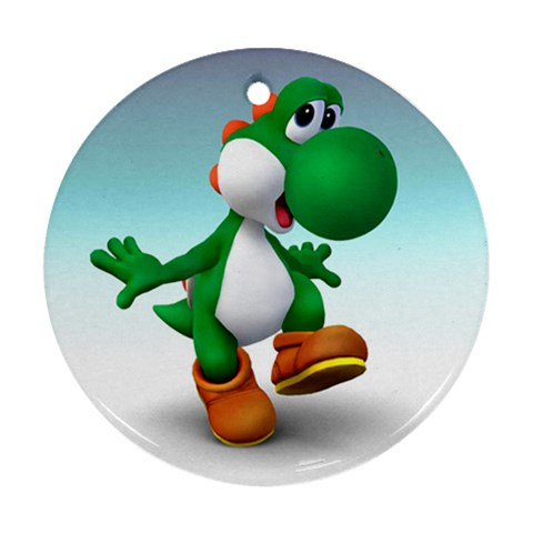 Carson's Collectibles Round Ornament (2-Sided) of Yoshi Happy at Sears.com