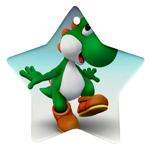 Carson's Collectibles Star Ornament (2-Sided) of Yoshi Happy at Sears.com
