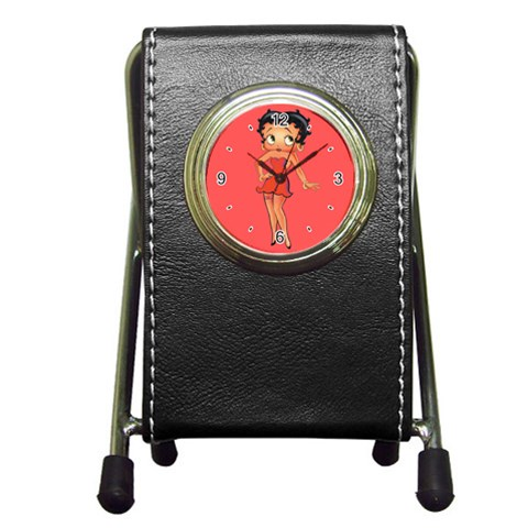 Carson's Collectibles Pen Holder Desk Clock of Vintage Art Deco Betty Boop in Red Dress at Sears.com