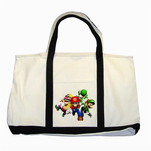 Carson's Collectibles Two Tone Tote Bag of Super Mario Bros. Mario and Luigi Wario and Yoshi at Sears.com