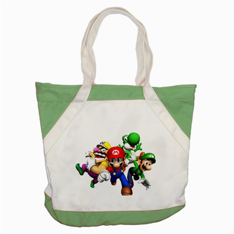 Carson's Collectibles Accent Tote Bag Green of Super Mario Bros. Mario and Luigi Wario and Yoshi at Sears.com