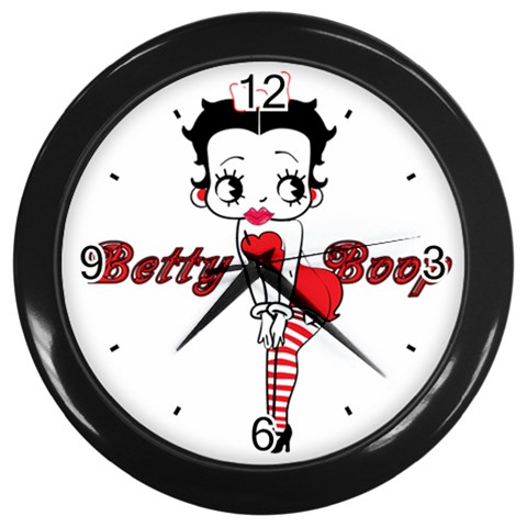 Carson's Collectibles Black Wall Clock of Vintage Art Deco Betty Boop Drawn in 1930s Style at Sears.com