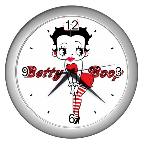 Carson's Collectibles Silver Wall Clock of Vintage Art Deco Betty Boop Drawn in 1930s Style at Sears.com