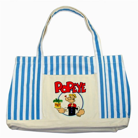 Carson's Collectibles Striped Blue Tote Bag of Popeye Holding Spinach at Sears.com