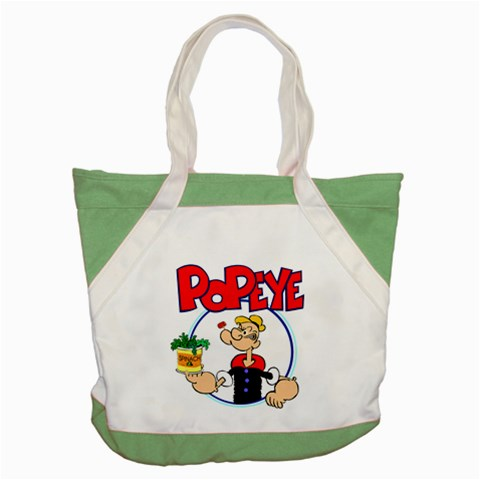 Carson's Collectibles Accent Tote Bag Green of Popeye Holding Spinach at Sears.com