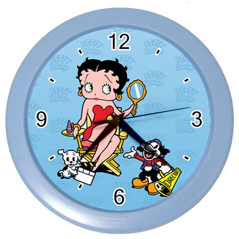 Carson's Collectibles Color Wall Clock of Vintage Art Deco Betty Boop Ready for a Movie at Sears.com