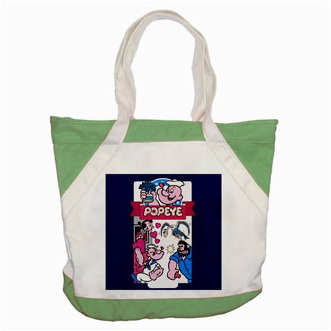 Carson's Collectibles Accent Tote Bag Green of Popeye Gang (Popeye, Olive Oyl, and Bluto) at Sears.com