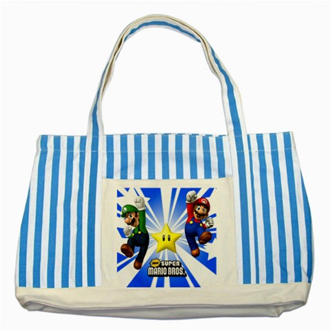 Carson's Collectibles Striped Blue Tote Bag of Super Mario and Luigi New (Super Mario Bros.) at Sears.com
