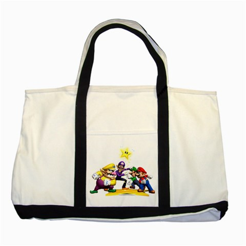 Carson's Collectibles Two Tone Tote Bag of Super Mario Bros. Mario and Luigi & Wario and Waluigi Showdown at Sears.com