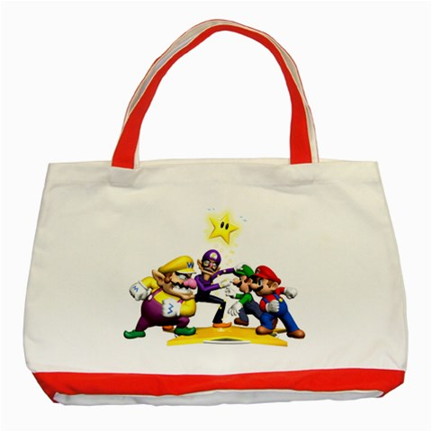 Carson's Collectibles Classic Tote Bag Red of Super Mario Bros. Mario and Luigi & Wario and Waluigi Showdown at Sears.com