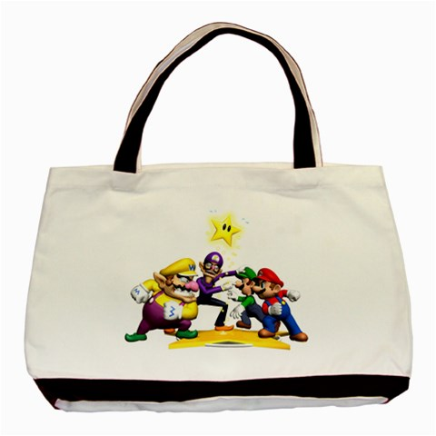 Carson's Collectibles Classic Tote Bag (2-Sided) of Super Mario Bros. Mario and Luigi & Wario and Waluigi Showdown at Sears.com