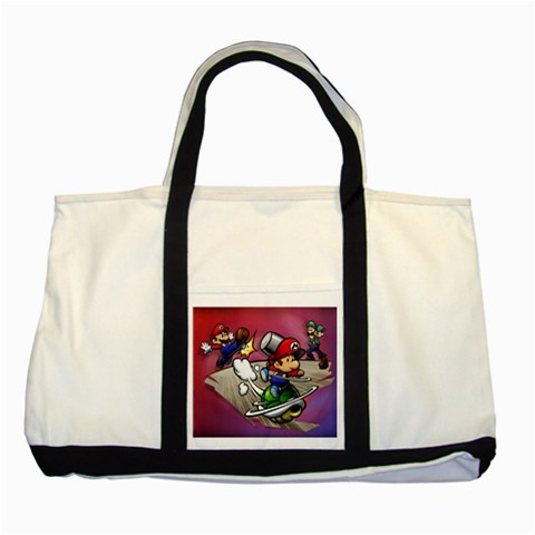Carson's Collectibles Two Tone Tote Bag of Super Mario Bros. Mario and Luigi Shell Attack at Sears.com