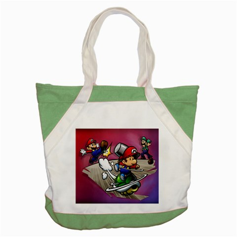 Carson's Collectibles Accent Tote Bag Green of Super Mario Bros. Mario and Luigi Shell Attack at Sears.com