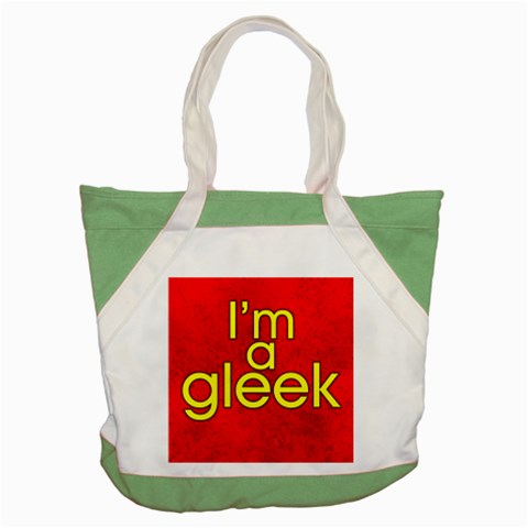 Carson's Collectibles Accent Tote Bag Green of I'm A Gleek (from Glee TV Show) (Red Background) at Sears.com