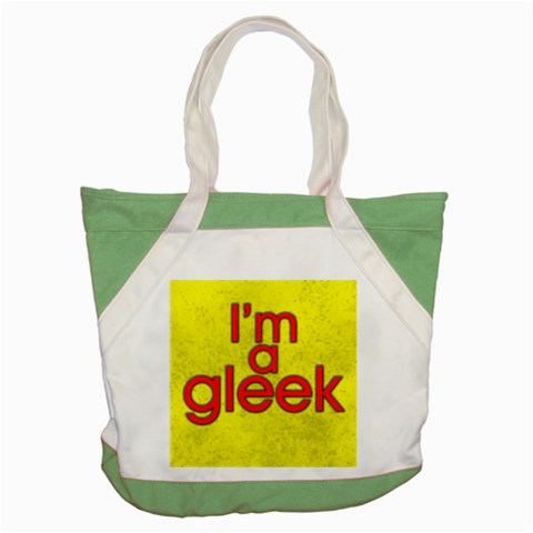 Carson's Collectibles Accent Tote Bag Green of I'm A Gleek (from Glee TV Show) (Yellow Background) at Sears.com