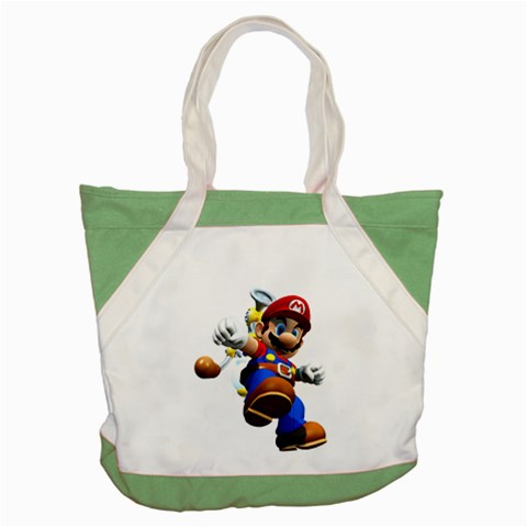 Carson's Collectibles Accent Tote Bag Green of Super Mario Bros. Mario Landing from Mario Sunshine at Sears.com