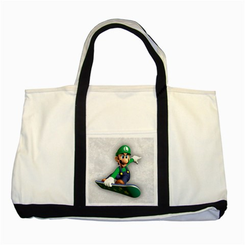 Carson's Collectibles Two Tone Tote Bag of Super Mario Bros. Luigi on Flyboard (Snowboard) at Sears.com