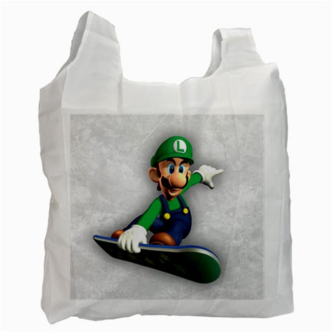Carson's Collectibles Recycle Bag (2-Sided) of Super Mario Bros. Luigi on Flyboard (Snowboard) at Sears.com