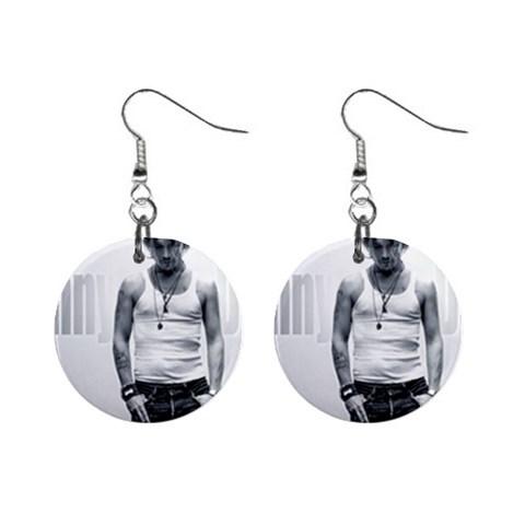 johnny depp earrings. Johnny Depp 3 1quot; Button Earrings