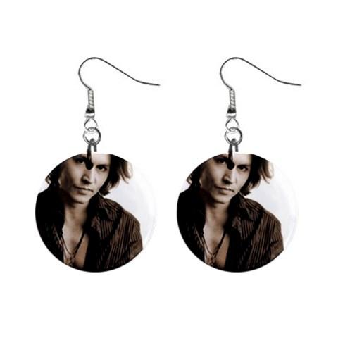 johnny depp earrings. Johnny Depp 1quot; Button Earrings