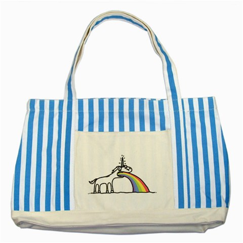Carson's Collectibles Striped Blue Tote Bag of Unicorn Vomiting Rainbow (Being Gay, Gay Pride Flag) at Sears.com