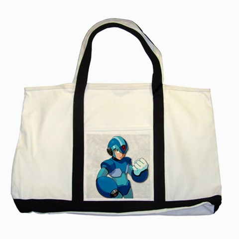 Carson's Collectibles Two Tone Tote Bag of Vintage Retro Megaman (Mega Man) Fist at Sears.com