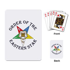 OES Lettered Playing Cards Single Design from ArtsNow.com Back