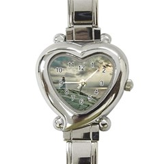 Peggy s Cove Lighthouse Heart Italian Charm Watch from ArtsNow.com Front