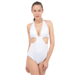 Halter Front Plunge Swimsuit
