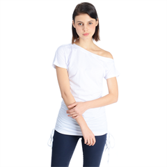 Off Shoulder Tie-Up Tee