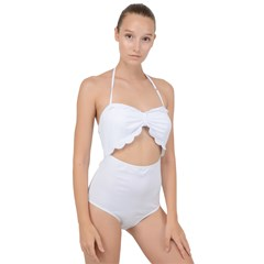 Scallop Top Cut Out Swimsuit
