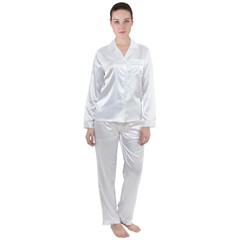 Satin Long Sleeve Pajamas Set