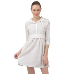 Mini Skater Shirt Dress