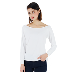 Off Shoulder Long Sleeve Velour Top