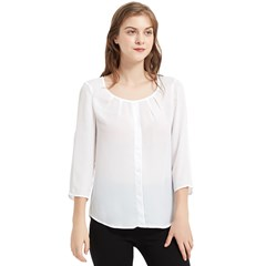 Chiffon Quarter Sleeve Blouse