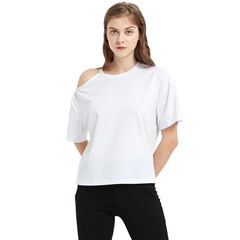 One Shoulder Cut Out Tee